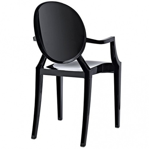 black acrylic resin armchair