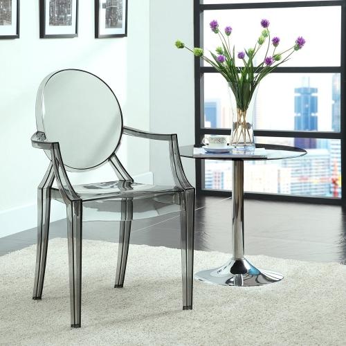 grey acrylic resin armchair
