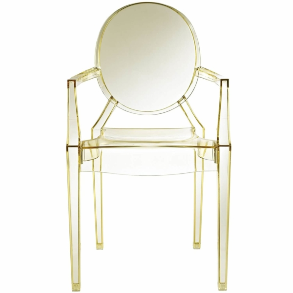 yellow acrylic resin armchair