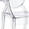 clear acrylic armchair