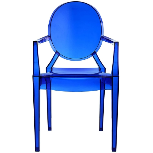 blue acrylic resin armchair