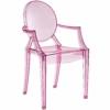 Pink acrylic resin armchair