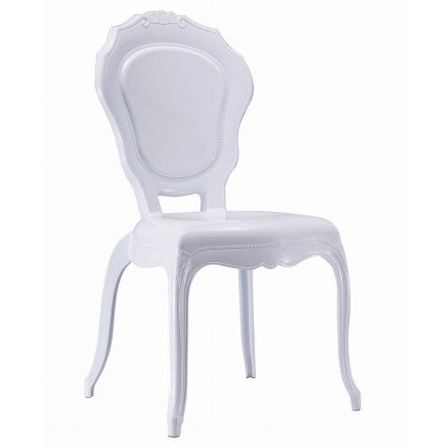White Princess Armless Chair