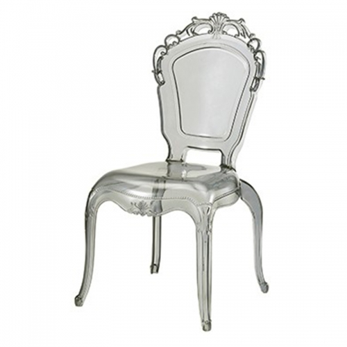 Clear Stacking Princess Armless Chair