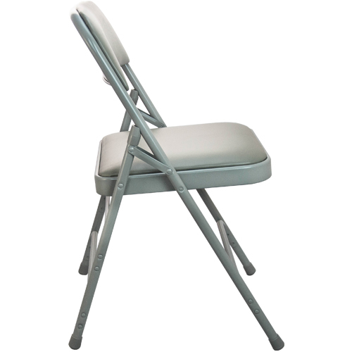 Gray Vinyl Padded Folding Chairs