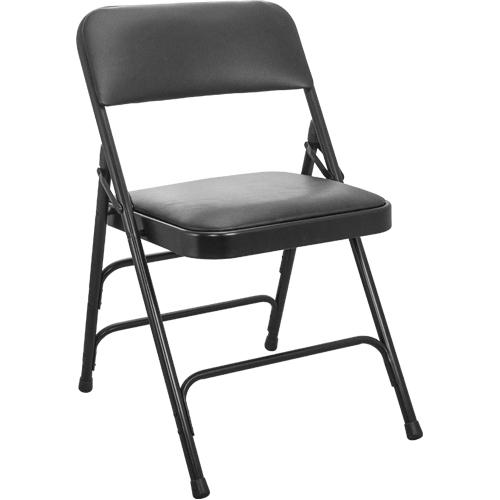 Black Vinyl Padded Folding Chairs