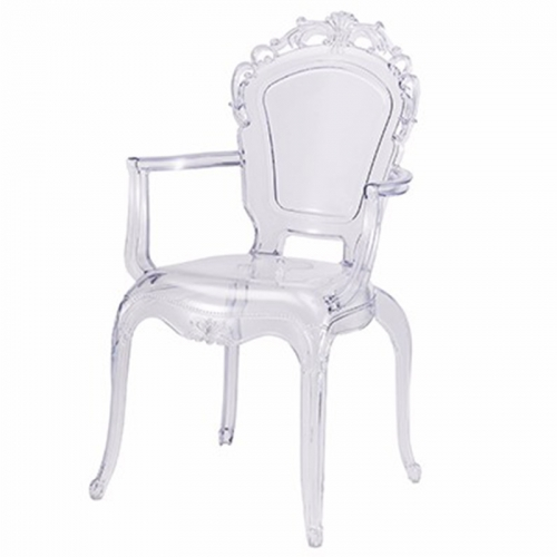 Clear Stacking Princess Armchair