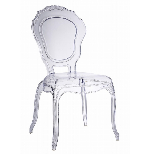 Clear Stacking Princess Chair