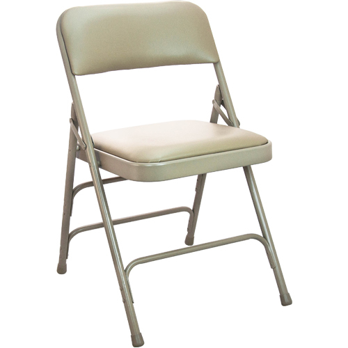 Beige Vinyl Padded Folding Chairs